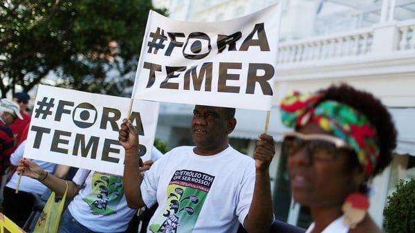 Protestas contra Michel Temer (Reuters)