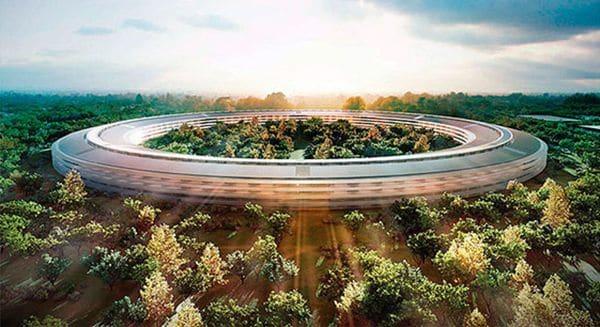 La nueva sede central de Apple en Silicon Valley, California, fue presentada a la prensa