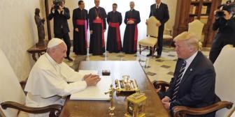 """Tras su reunión con el papa Francisco, Trump dice estar """"más determinado que nunca en perseguir la paz mundial"""""""