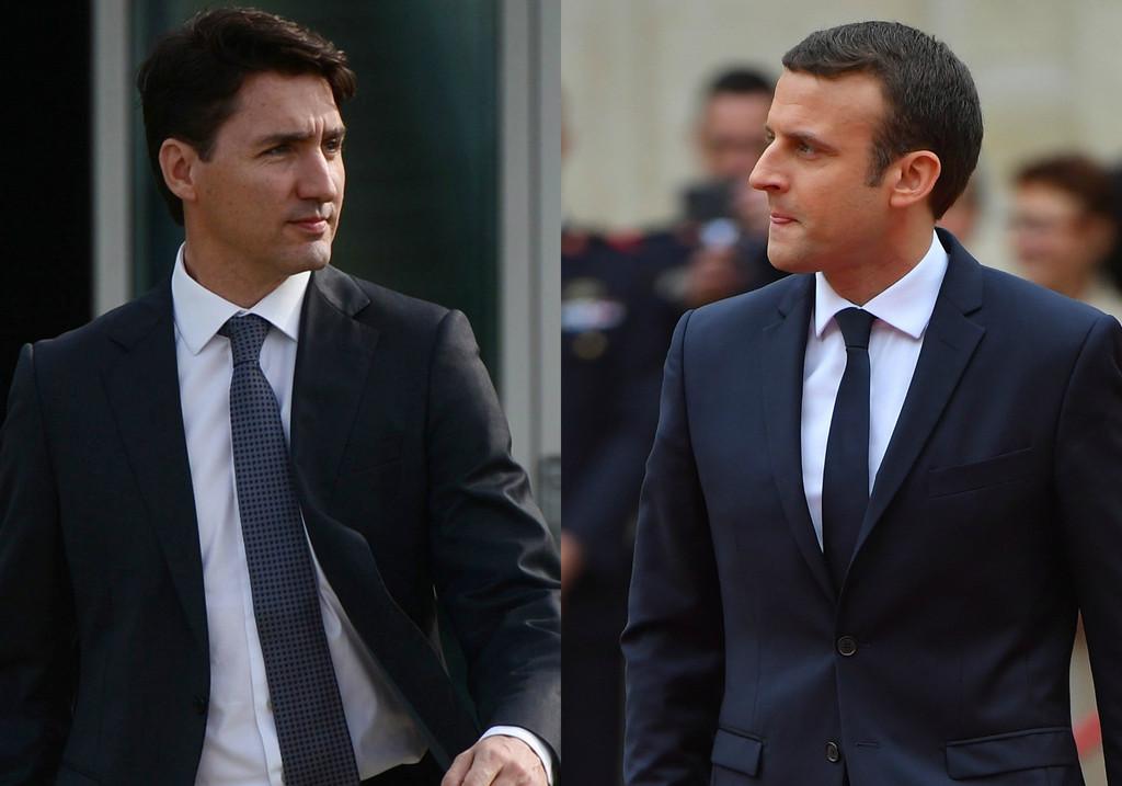 Trudeau y Macron enardecen las redes sociales