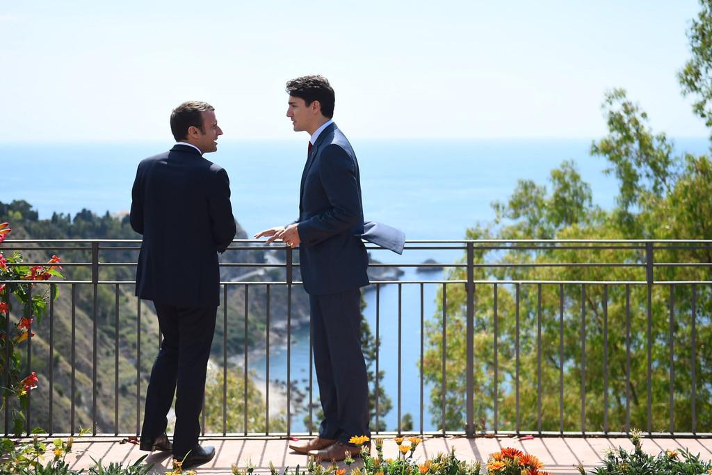 Emmanuel Macron, Justin Trudeau