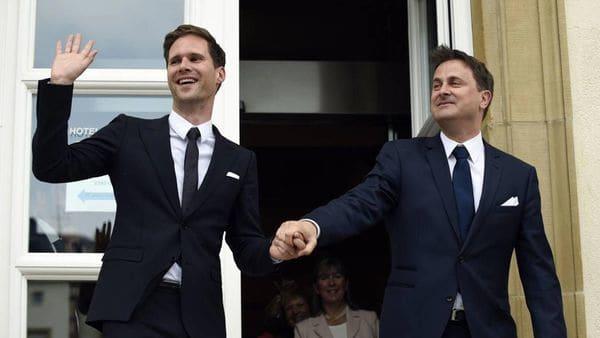 Gauthier Destenay y Xavier Bettel