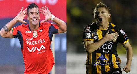 Gabriel Ríos de Wilstermann y Alejandro Chumacero de The Strongest