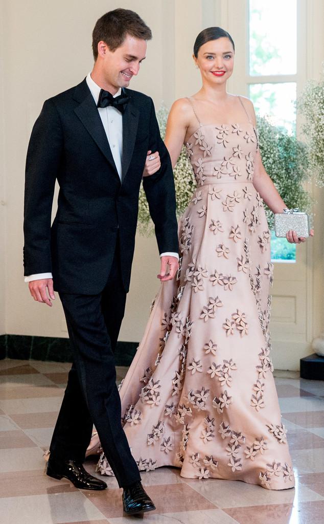 Evan Spiegel, Miranda Kerr
