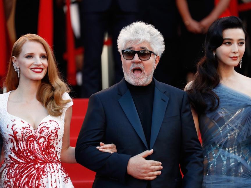 Pedro Almodóvar Jessica Chastain Cannes