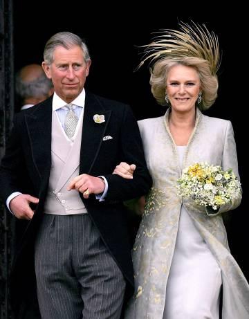 El príncipe Carlos y Camilla Parker-Bowles, el día de su boda en abril de 2005.