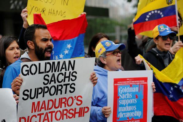 Protestas contra Goldman Sachs en Nueva York (Reuters)