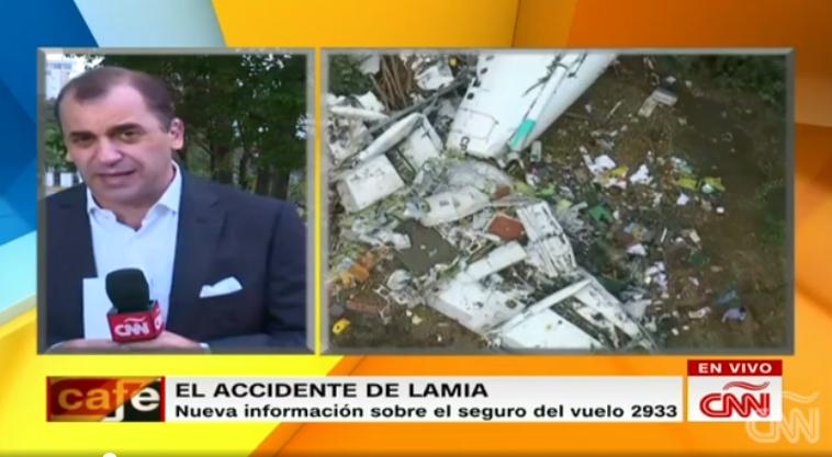 Avión de tragedia de Chapecoense voló a Colombia con seguro vencido