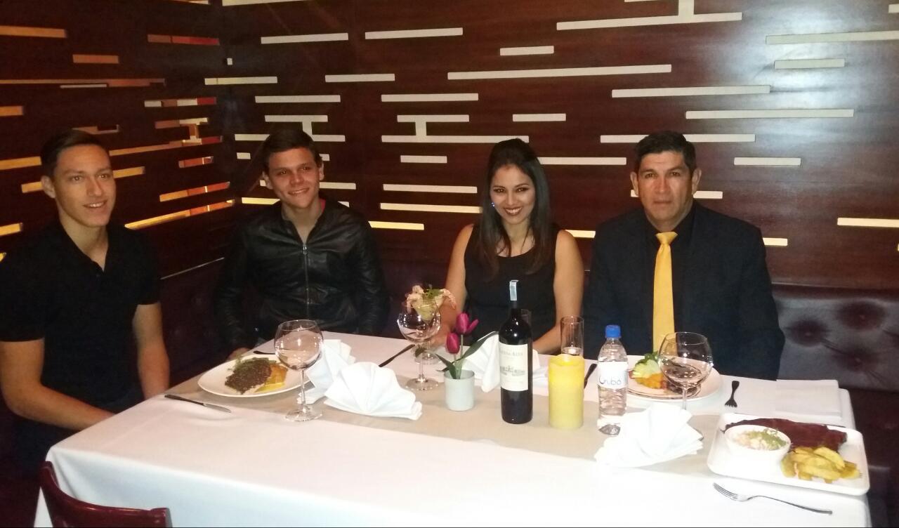 Matias Sequeiros, Daniel Novoa, Mirian Cortez y Jesús Cortez