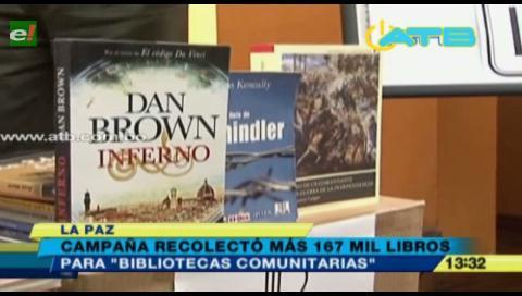 Campaña Bolivia Lee 2017 logró recolectar 167 mil libros