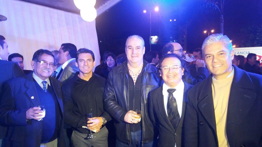 José Padilla, Jorge Mendez, Napo Tarabillo, José La Fuente y Alfredo Roman