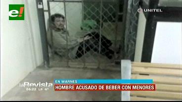 Warnes: Detienen a sujeto al ser encontrado bebiendo junto a varias menores