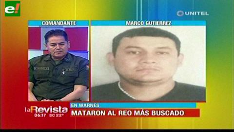Comandante de la Policía: Ya se tiene identificados a cómplices del reo abatido