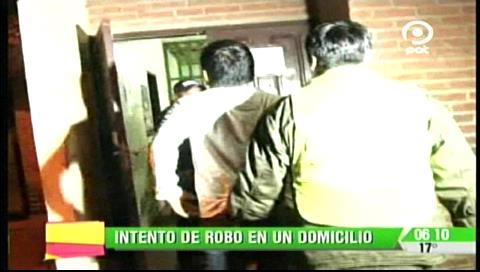 Detienen a un sujeto intentando robar en un domicilio