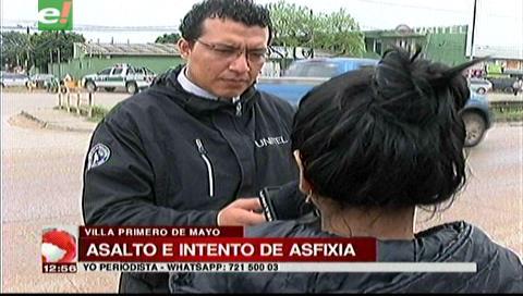 Delincuente intentó asfixiar a una joven para robarle el celular