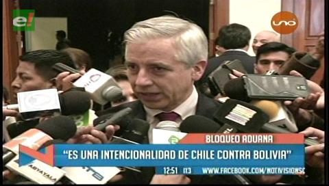 """García Linera y el paro aduanero: """"Hay una intencionalidad de Chile contra Bolivia"""""""