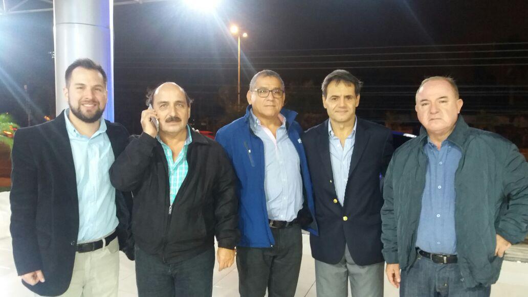 Nicolas Hurtado Hurtado, Nicolas Hurtado, Jaime Parada, Christian Jacir y Erwin Bowles