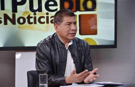 El canciller Fernando Huanacuni en el programa