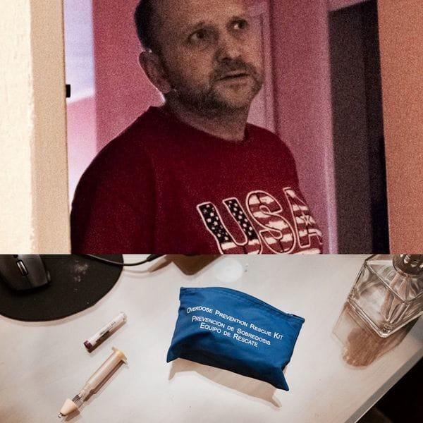 Sergey fue salvado por su hijo Maykl con el kit de prevención de sobredosis que se distribuye en distintos estados de EEUU, compuesto por el spray nasal Narcan, que permite revertir los efectos de una sobredosis
