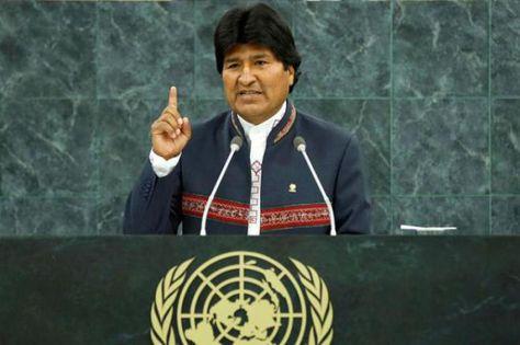 El presidente Evo Morales en la sesión de la Asamblea de las Naciones Unidas (archivo).