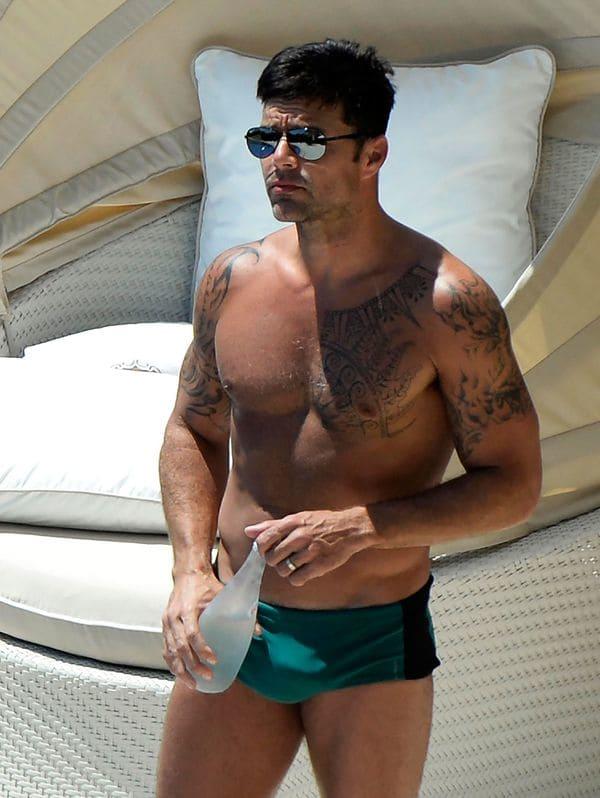Ricky Martin en Mallorca, España (Grosby)