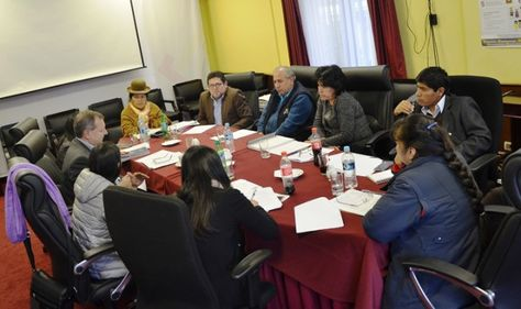 Reunión de autoridades del TSE y del Legislativo sobre elecciones judiciales. Foto: TSE