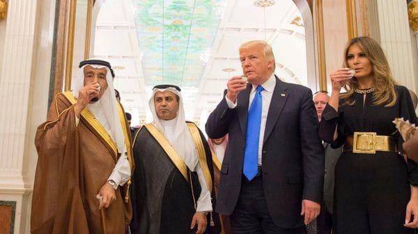 Donald Trump en Arabia Saudita durante su gira reciente en Medio Oriente (REUTERS)