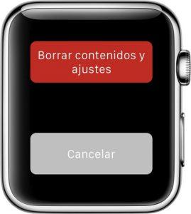 Apple Watch - Reseteo desde el reloj