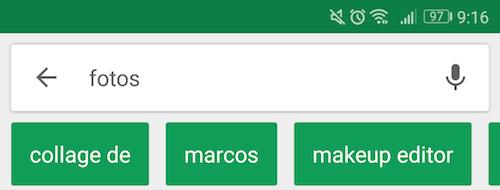 filtros en google Play Store