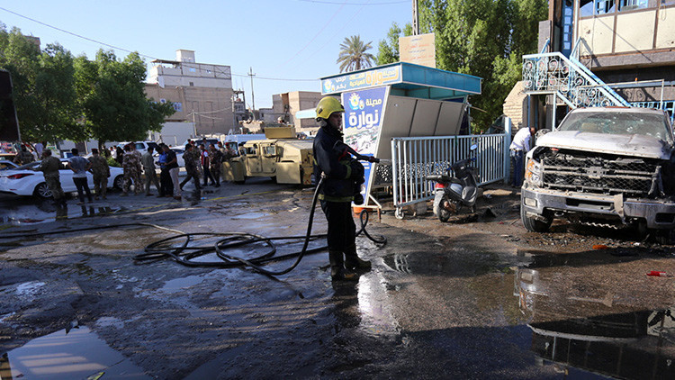 VIDEO: Al menos 21 muertos al producirse una explosión a la entrada de un mercado en Irak