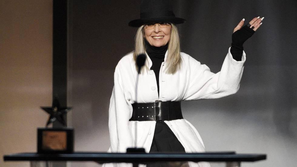 Diane Keaton, homenajeada en la AFI Life Achievement Award.