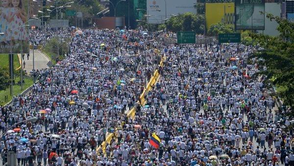 10 impactantes fotos de las manifestaciones opositoras — Venezuela