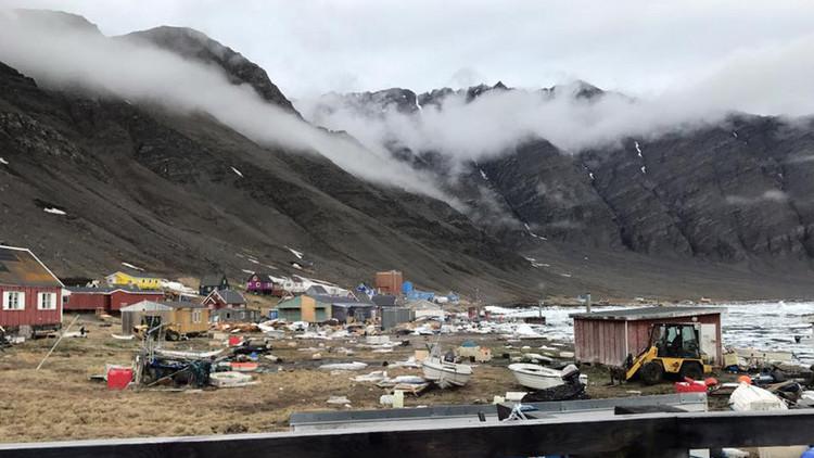 VIDEO: Un tsunami arrasa hogares en la costa de Groenlandia tras un terremoto