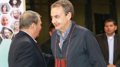 El expresidente José Luis Rodríguez Zapatero. Foto: Bolivia Tv