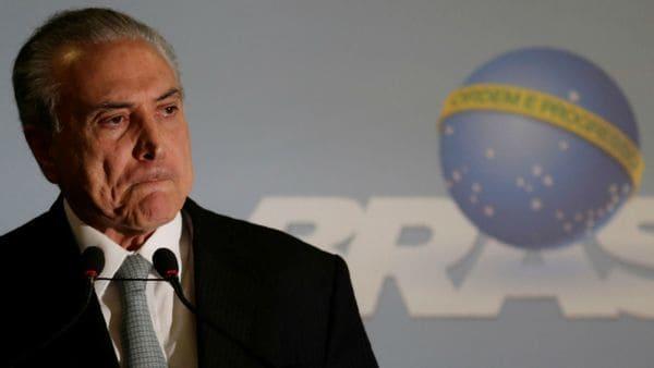 Fiscalía de Brasil denunció a Temer por corrupción pasiva