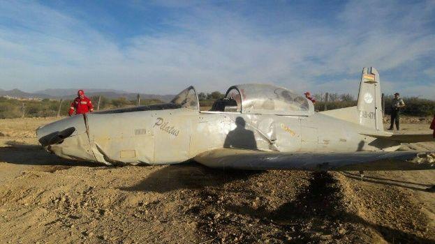 Dos heridos en accidente de una avioneta de la Fuerza Aérea Boliviana