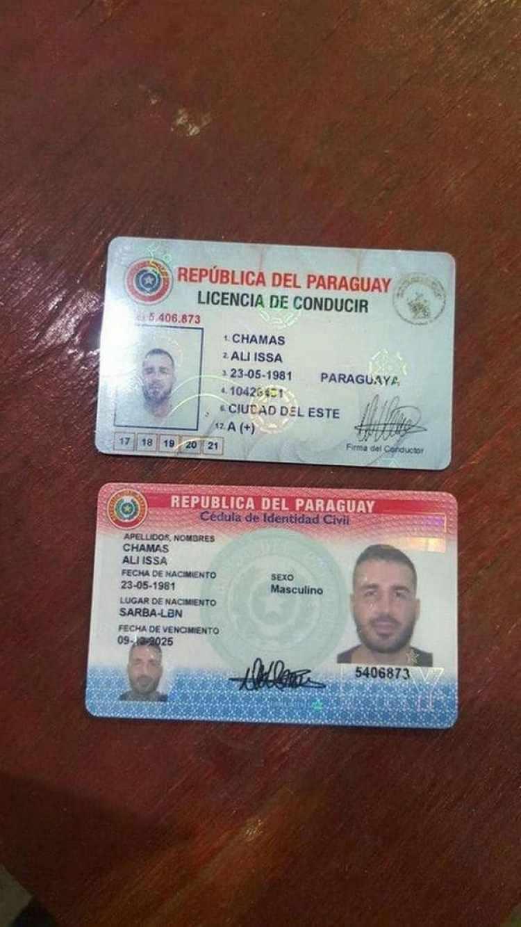 Ali Issa Chamas tiene vínculos con los terroristas de Hezbollah