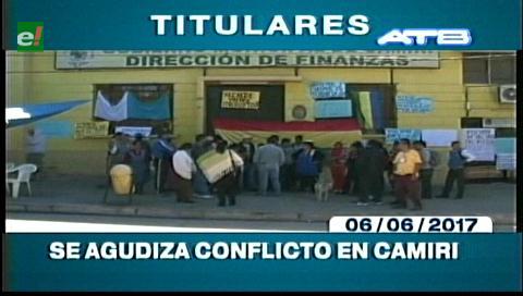 Video titulares de noticias de TV – Bolivia, mediodía del martes 6 de junio de 2017