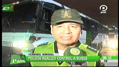 Santa Cruz: Realizan operativos de control en la Terminal Bimodal