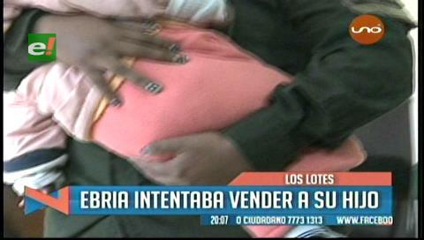 Los Lotes: Arrestan a ebria que intentaba vender a su hijo de 8 meses