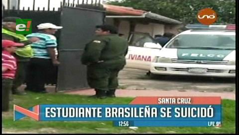Investigan el suicidio de estudiante brasileña