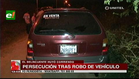Policía realizó una persecución a sujeto que robó vehículo que luego abandonó
