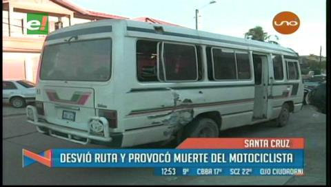 Informe de Tránsito: Micro desvió su ruta provocando la muerte del motociclista