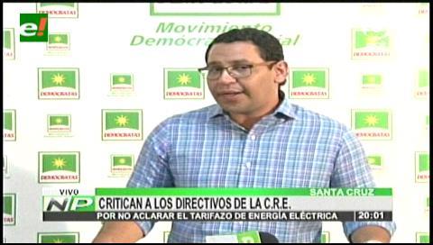 Alza de tarifas: Diputado Monasterio critica silencio de la CRE