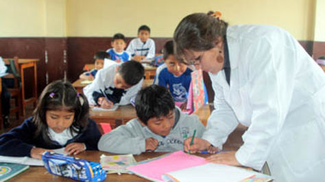 Labor diaria de un maestro.