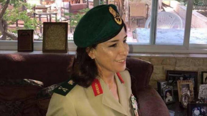 Nibal Madhat Badr es nominada como general de brigada de las Fuerzas Armadas de Siria, 1 de julio de 2017.