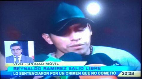 Reynado Ramírez, esta noche al abandonar Palmasola