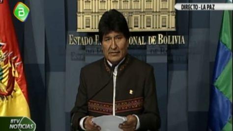 El presidente Evo Morales fija posición sobre memoria chilena en la demanda por el Silala