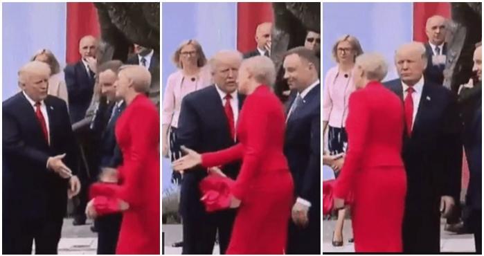 El presidente de EU, Donald Trump y la primera dama de Polonia, Agata Kornhauser-Duda