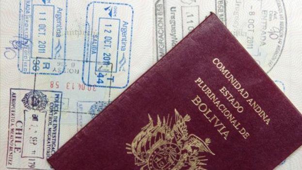 Pasaporte boliviano permite ingresar sin visa solo a 69 países